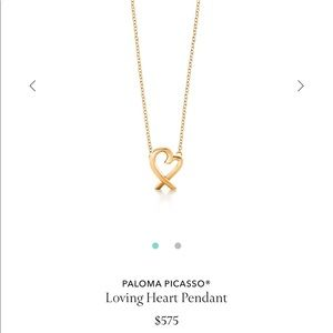 Paloma Picasso Loving Heart Necklace Gold